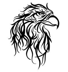Bald eagle head sketch vector