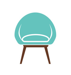 chair icon isolated on white vector image