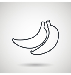 banana drawing isolated icon design vector image vector image