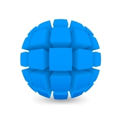 Divided blue sphere vector image
