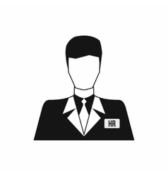 HR manager icon simple style vector image vector image