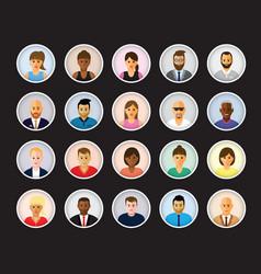 People profiles vector