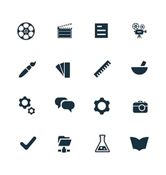 art design icons set vector image