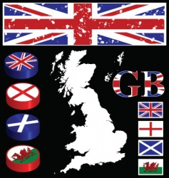 great britain collection vector image