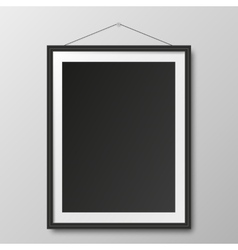 Picture frame and shadow vector image vector image