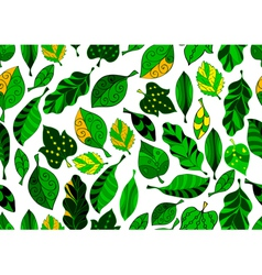seamless leaf background vector image