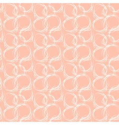 Seamless pattern with abstract circle doodle vector image