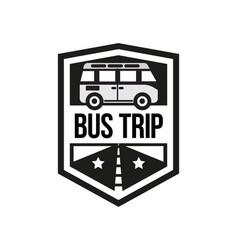 The bus trip logo vector