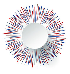 Celebration background with fireworks vector