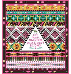 Seamless tribal pattern with geometric elements vector image