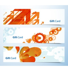 Set of banners or gift cards vector image
