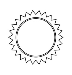 Sun sunlight summer climate symbol outline vector