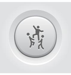 Team Building Concept Icon Grey Button Design vector image