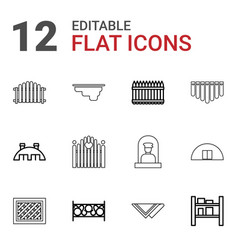 12 country icons vector
