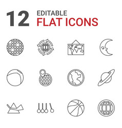 12 sphere icons vector image