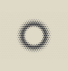2d abstract geometric wave hex halftone pattern vector image