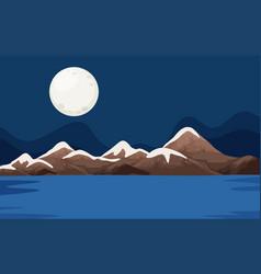 a night ocean scene vector image