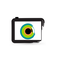 abstract camera icon vector image