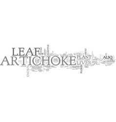 Artichoke leaf text word cloud concept vector