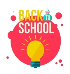 Back to school poster with shining light bulb vector