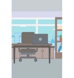 Background of office with city view vector image