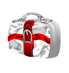 Bag with st georges flag vector
