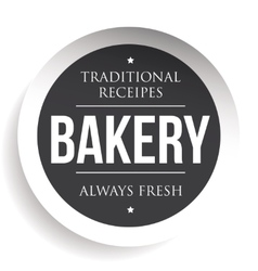 Bakery vintage black stamp sticker vector image
