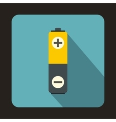 Battery icon in flat style vector image