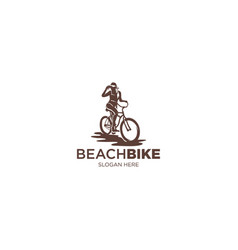 beach bike vector image
