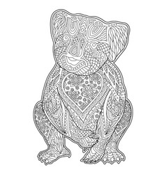 beautiful coloring book page with funny animal vector image