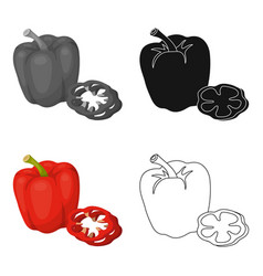 Bell pepperbbq single icon in cartoon style vector
