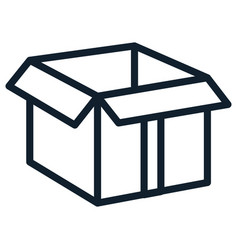 Box carton delivery service vector