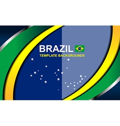 brazil color backgrounds style vector image