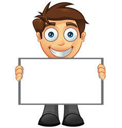 Business Man Blank Sign 5 vector image