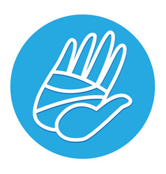 Cartoon hand high five vector