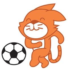 Cat Football vector