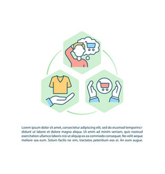 Challenging consumerism concept line icons vector