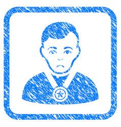 Champion framed stamp vector