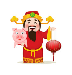 Chinese god wealth vector