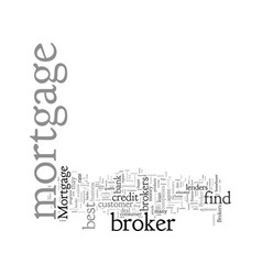 Choose wisely a comparison mortgage brokers vector