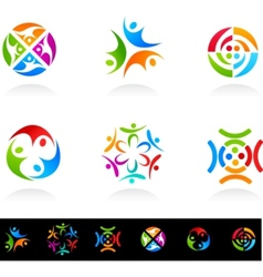 collection of social media vector image