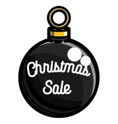 Color vintage Christmas sale emblem vector image