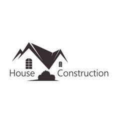 construction and sale of housing vector image