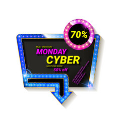 cyber monday movie style banner vector image