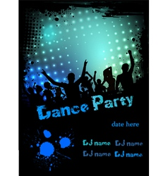 dance party green blue grunge vector image
