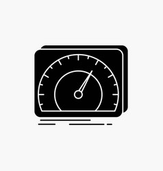 Dashboard device speed test internet glyph icon vector