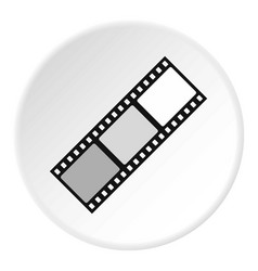 film icon circle vector image