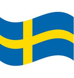flag of sweden realistic waving flag of kingdom vector image