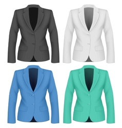 Formal work wear Ladies suit jacket vector image