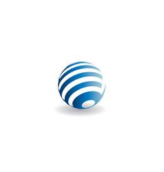 globe icon world vector image
